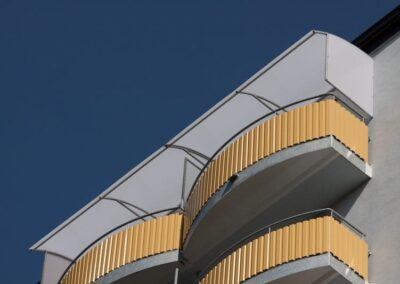 Střecha horní balkon