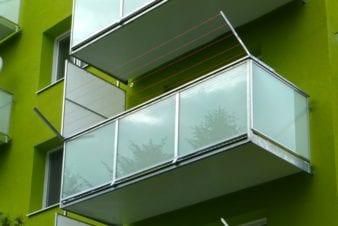 Balkon výplň bezpečnostní sklo