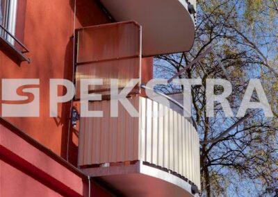 Balkony se zástěnou
