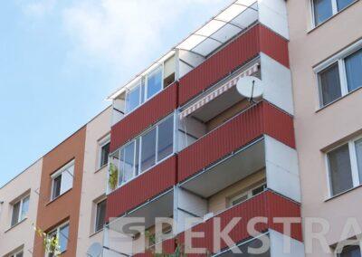 Balkony trapézový plech zastěna