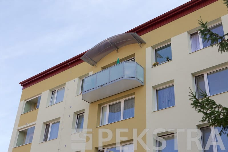 Balkony půdorys IDEAL s výpní bezpečnostním sklem