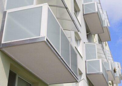 nová konstrukce závěsného balkónu