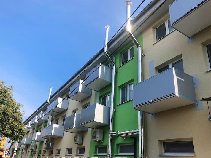 Balkony s opláštěním dibond