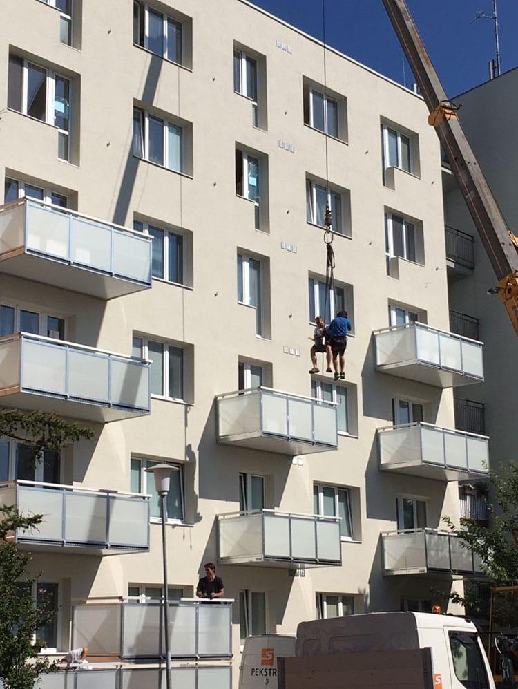 balkony montáž