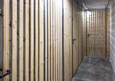 sklepní kóje dřevěná výplň