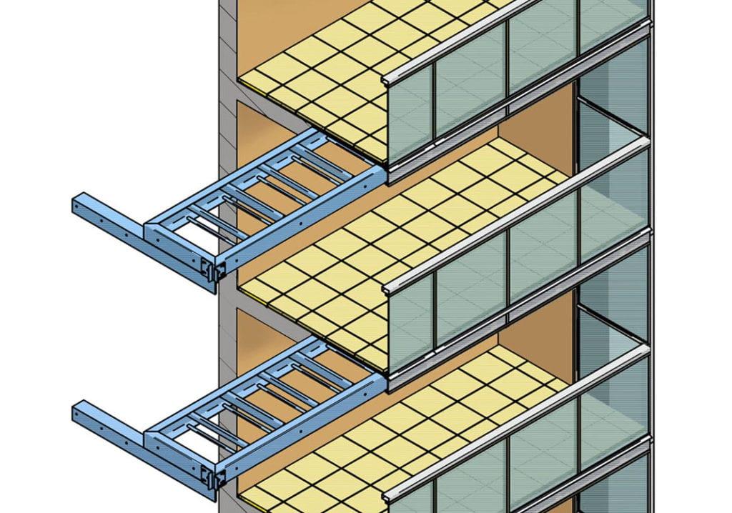 Balkon pro rozšíření betonové lodžie a zvětšený půdorys