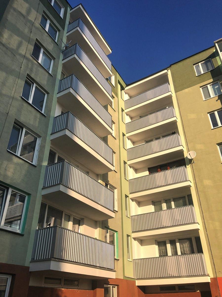 Ocelové balkonové zábradlí